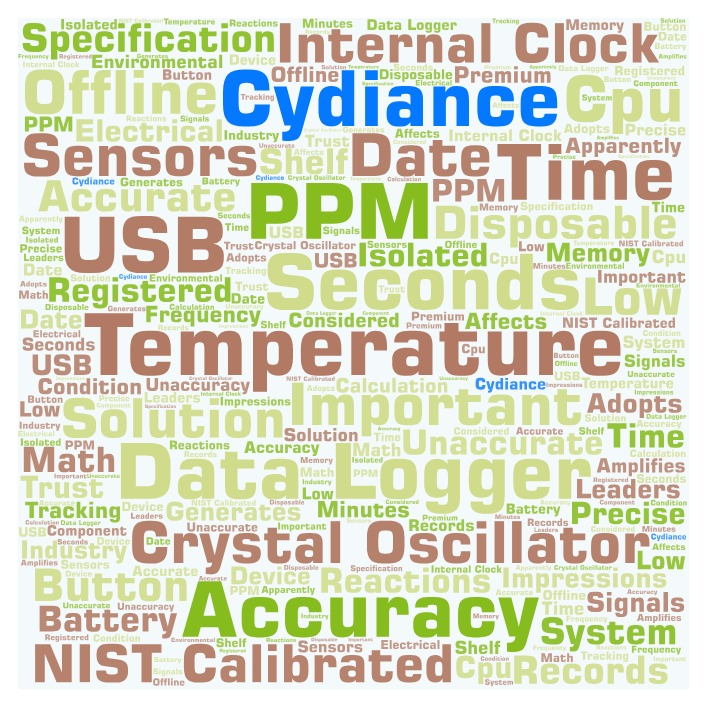 Time clock accuracy for temperature data logger